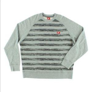 Nike Mens Speed Stripe Crew Sweatshirt Grey.